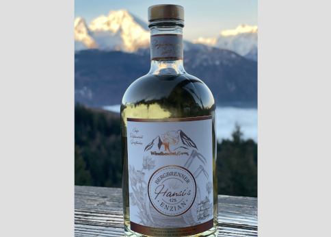 Hansis Bergbrenner Enzian 0,5 l Flasche